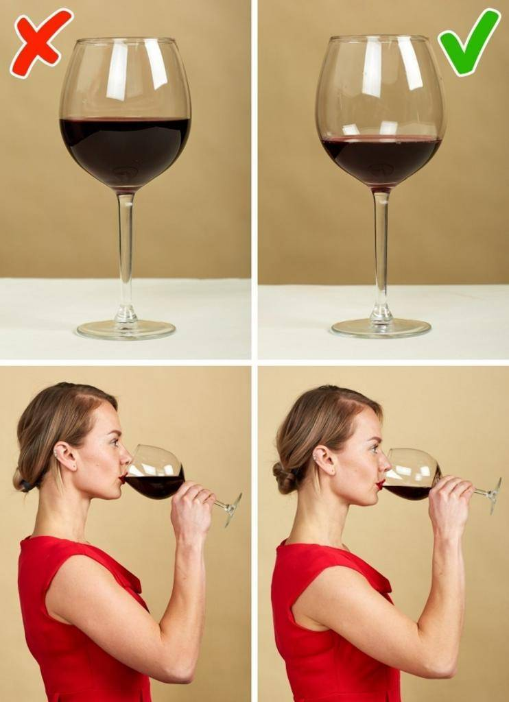 Как держать винный бокал