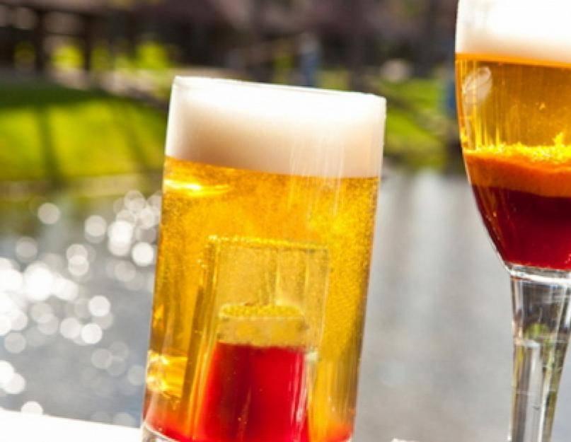 Какие бывают коктейли с пивом