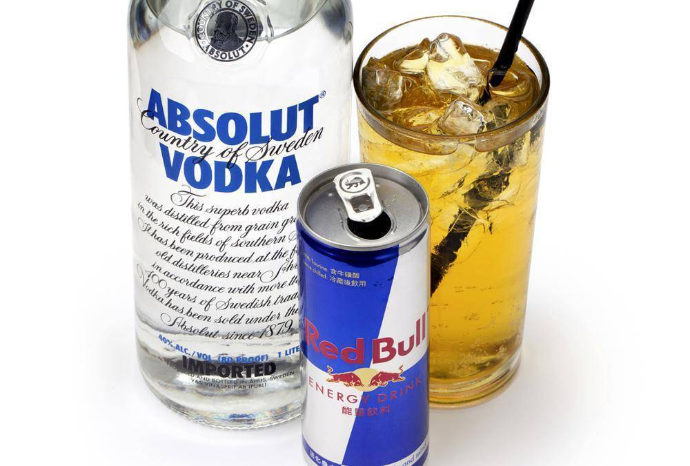 Алкоголь и энергетические напитки
