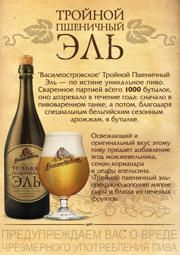 Обзор пива Василеостровское