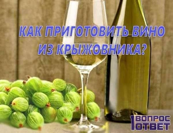 Как сделать вишневое вино с крыжовником
