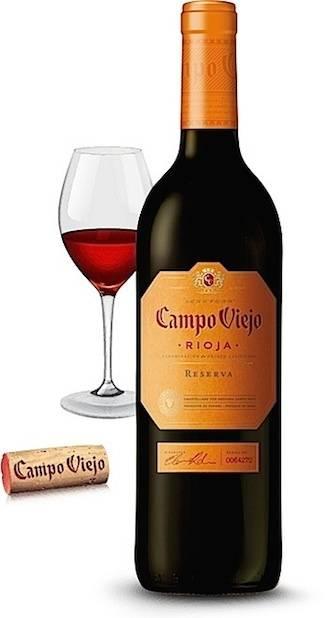 """Вино """"кампо вьехо темпранильо"""" (campo viejо) красное сухое 0,75л крепость 13,5% (вино), купить в интернет-магазине «вино-сити»"""
