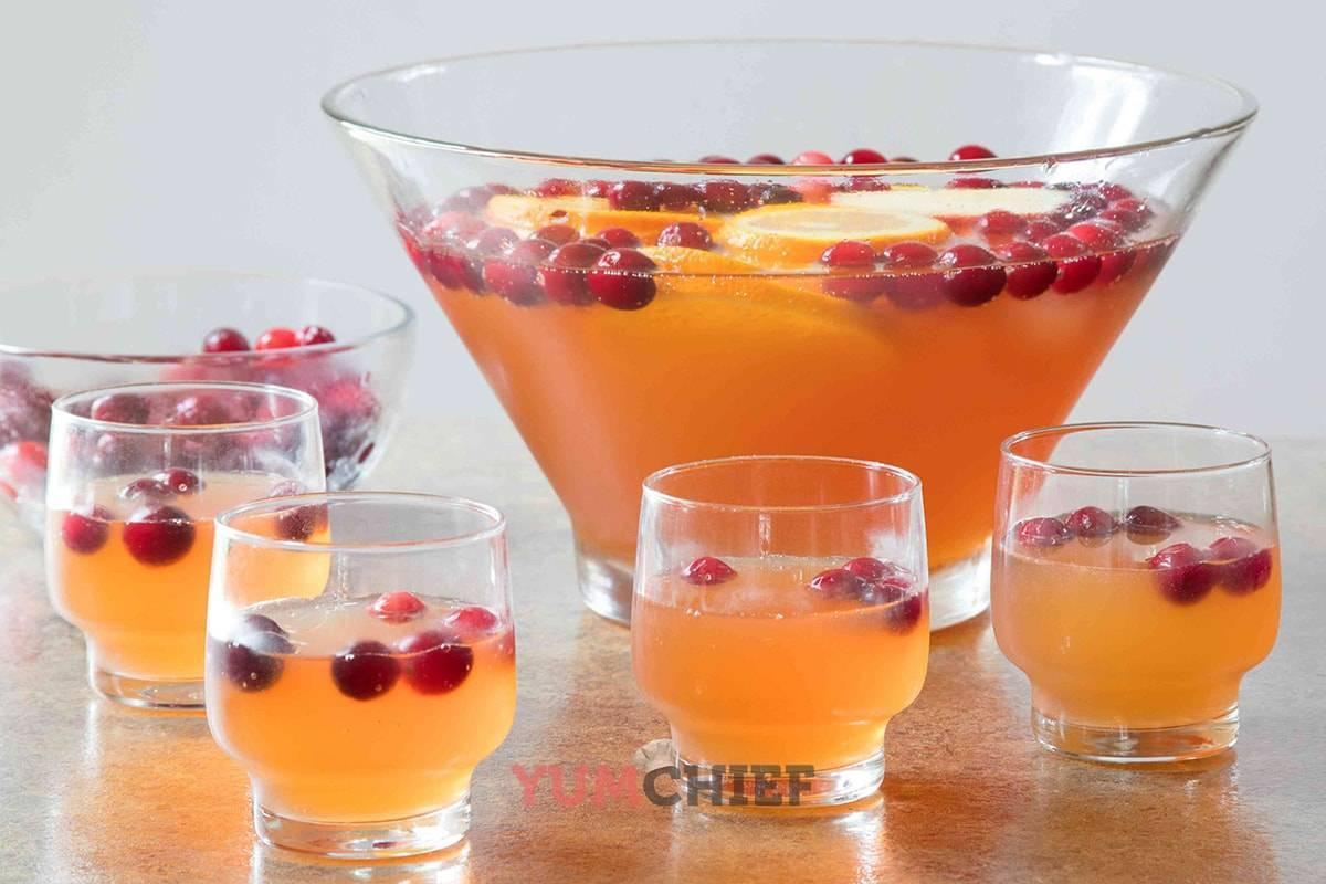 Рецепты приготовления яблочного пунша