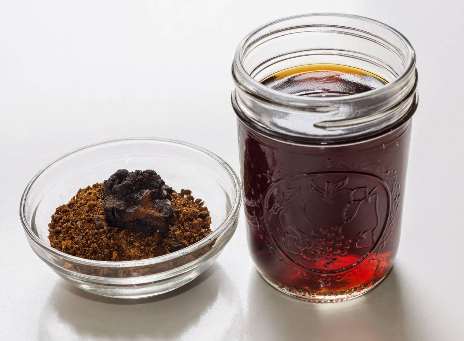 Настойка чаги: применение гриба на водке, что лечит и как употреблять