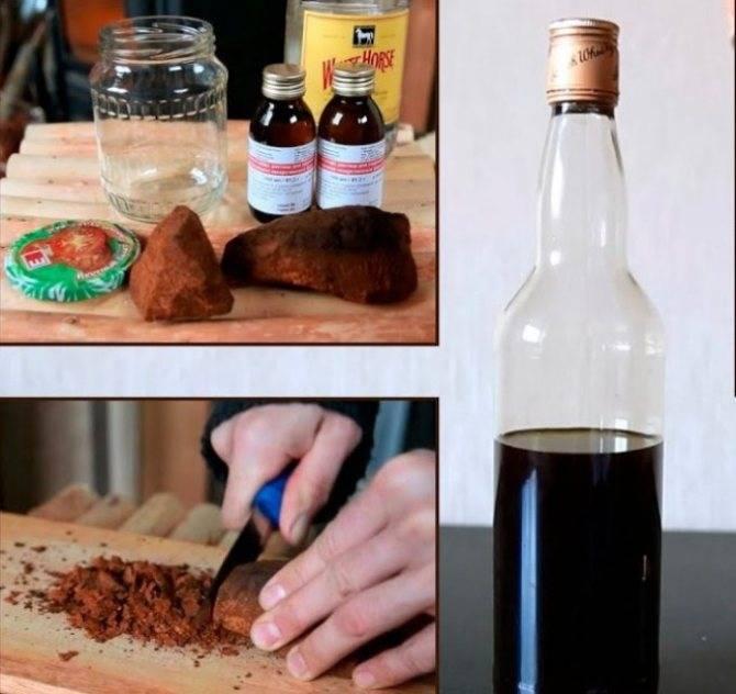 Самогон на чаге: рецепты приготовления настойки