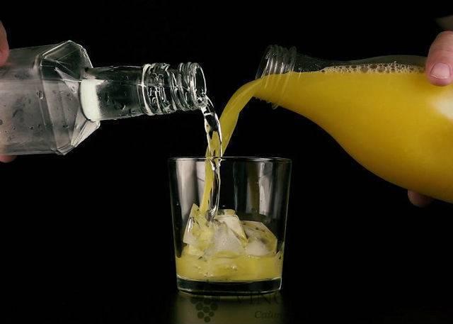 Рецепты водки с соком