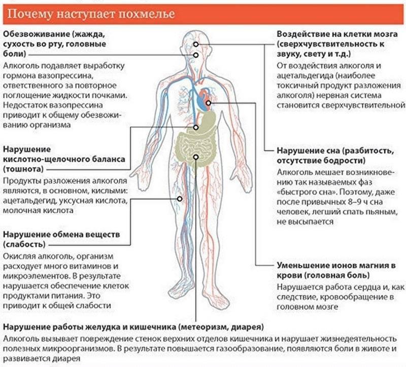 Похмелье, похмельный синдром: симптомы и признаки, лечение
