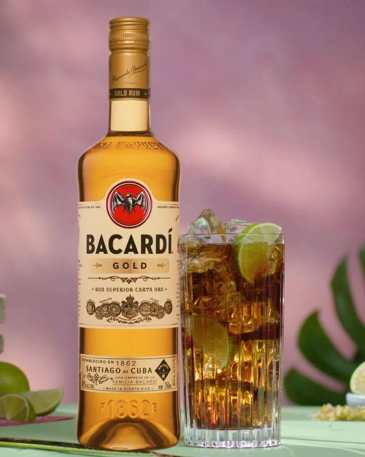 Ром «bacardi black» вподарочной упаковке + 3шота