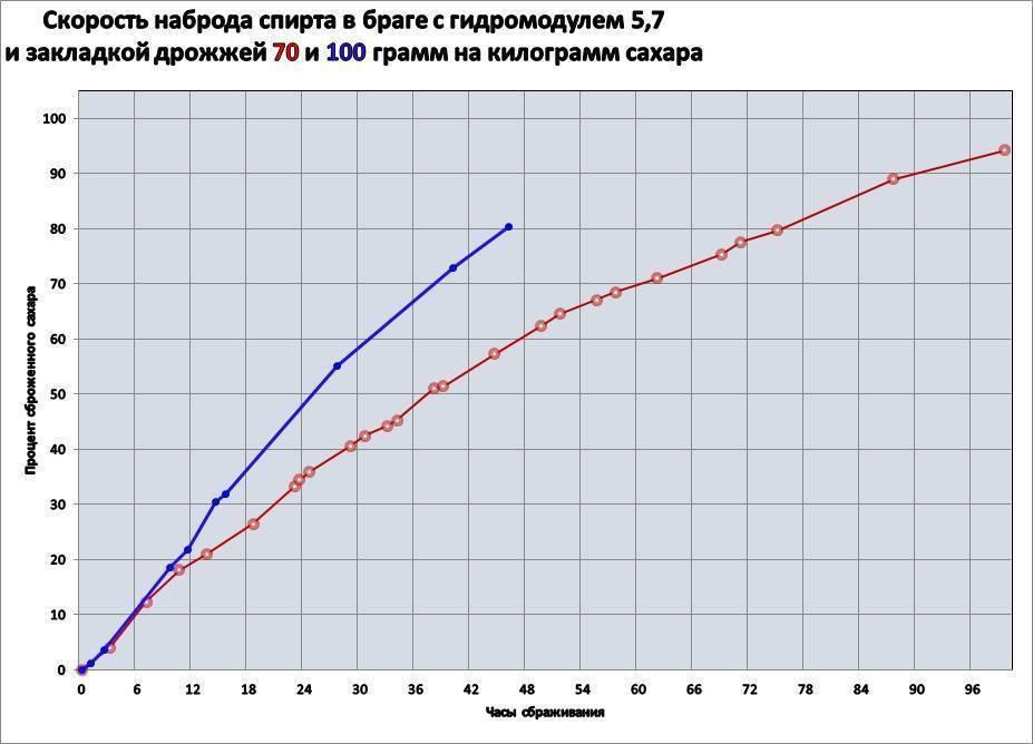 Сколько бродит брага на сахаре, ускорение времени брожения