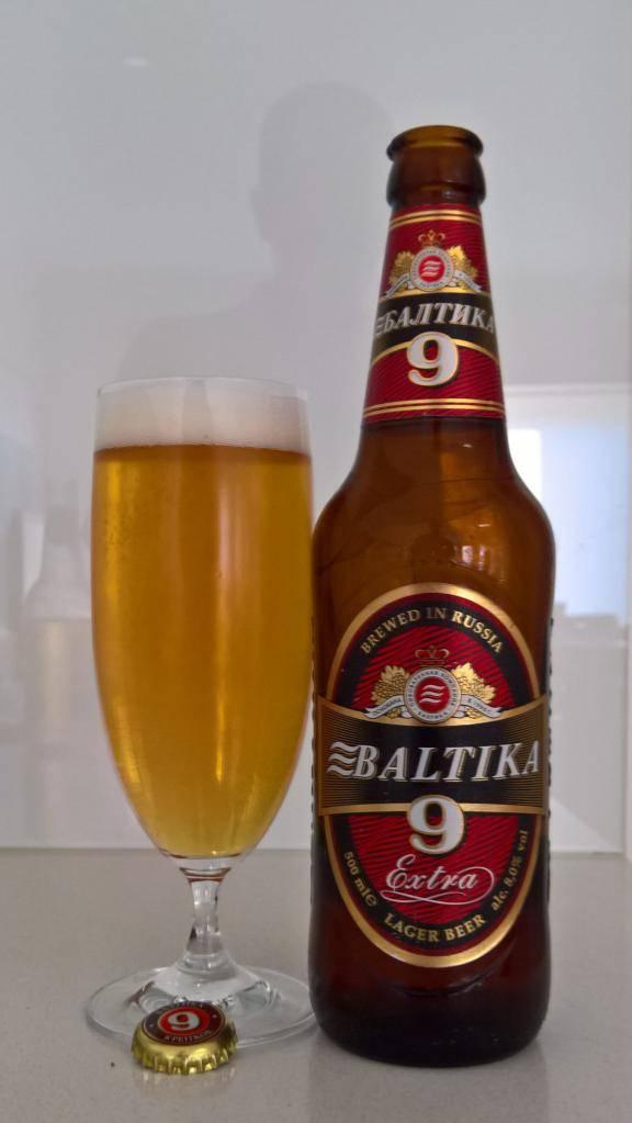 Сколько градусов алкоголя в пиве балтика 9?