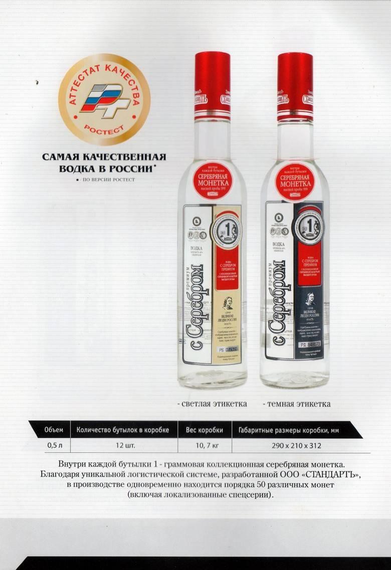 Все о водке с серебром