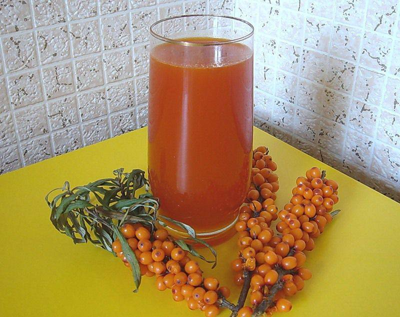 Напитки из ягод облепихи