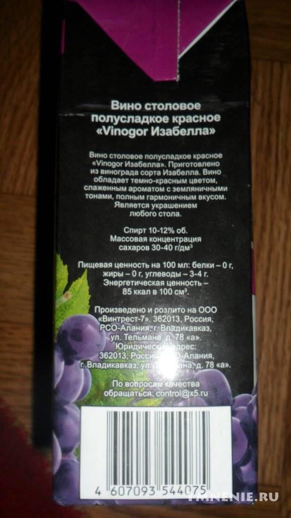 Вино из винограда изабелла в домашних условиях