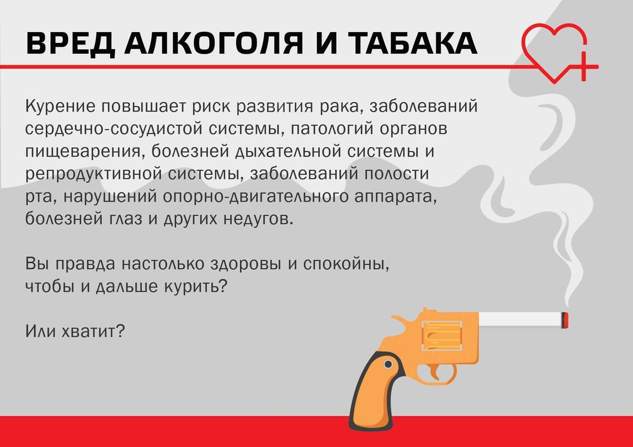 Вред курения и алкоголя для организма. каково негативное влияние курения и алкоголя на человека