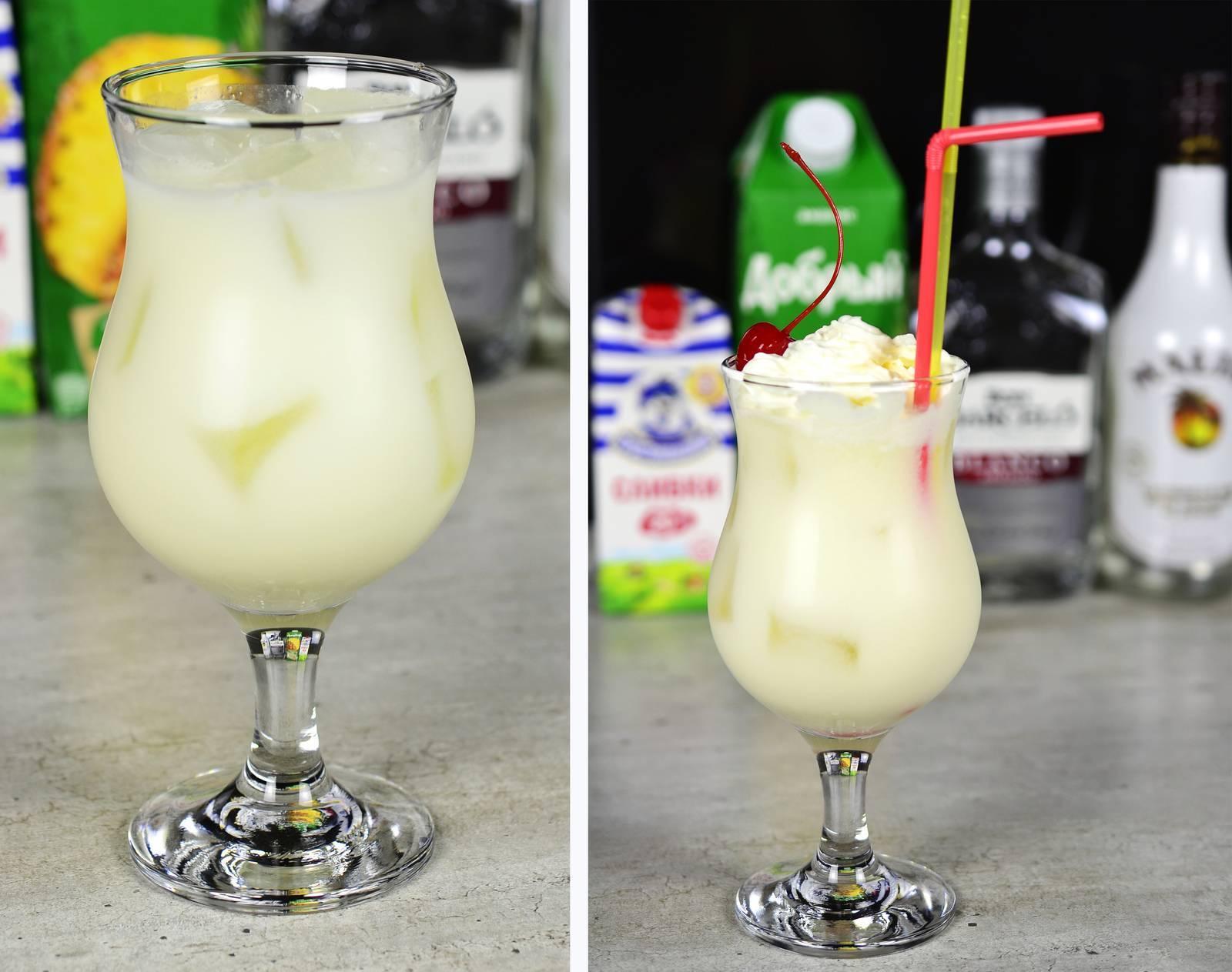 Коктейль пина колада- рецепты алкогольного и безалкогольного напитка