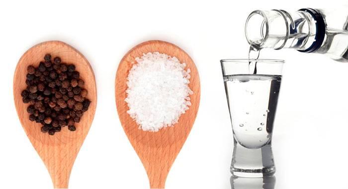 Водка с солью от поноса: как готовится раствор в домашних условиях для терапии, схема применения