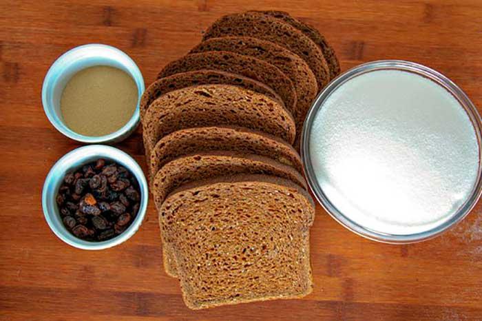Квас из чёрного хлеба в домашних условиях с дрожжами