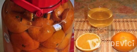 Вино апельсиновое и мандариновое эксклюзив дома