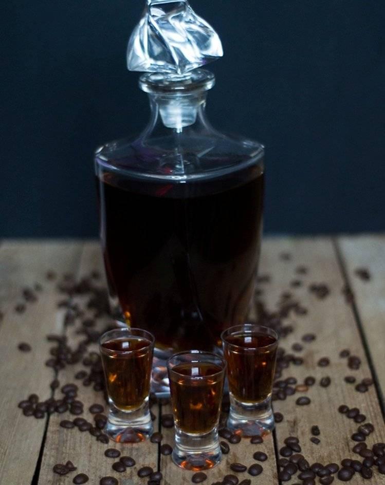 Крепкая кофейная настойка на водке
