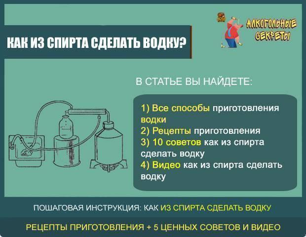 Производство водки - из чего делают водку в россии сегодня?