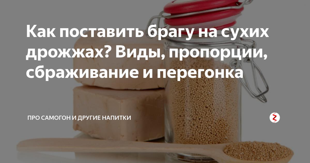 Рецепт сахарной браги на сухих дрожжах