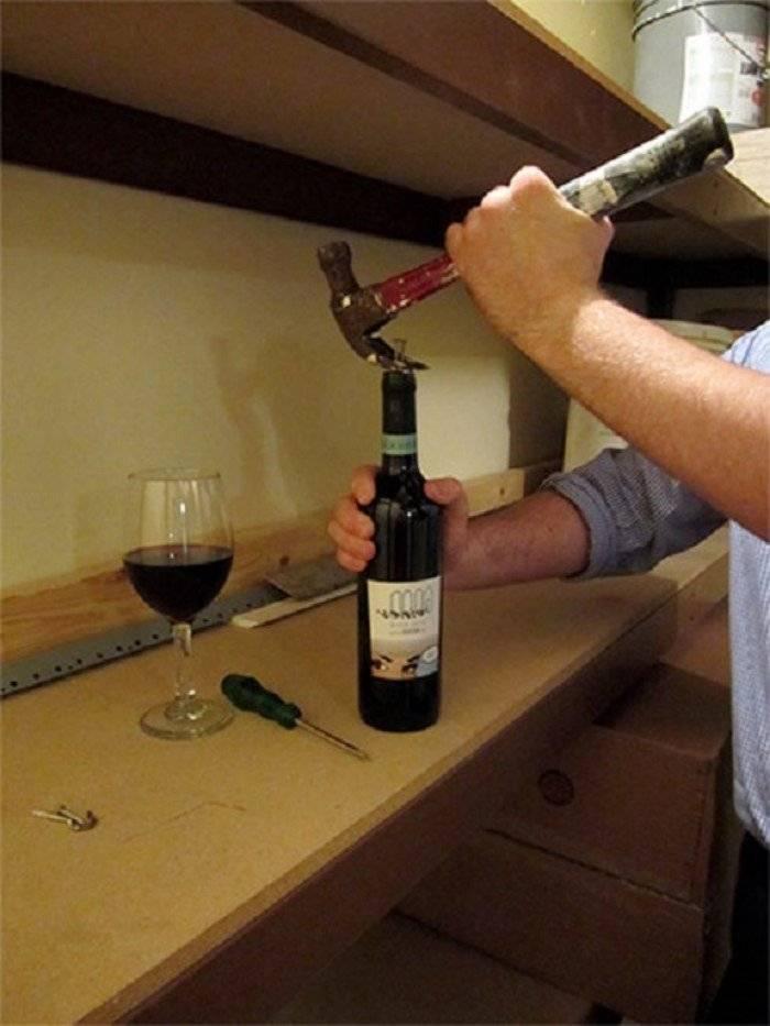 Как открыть вино без штопора, проверенные способы, полезные советы