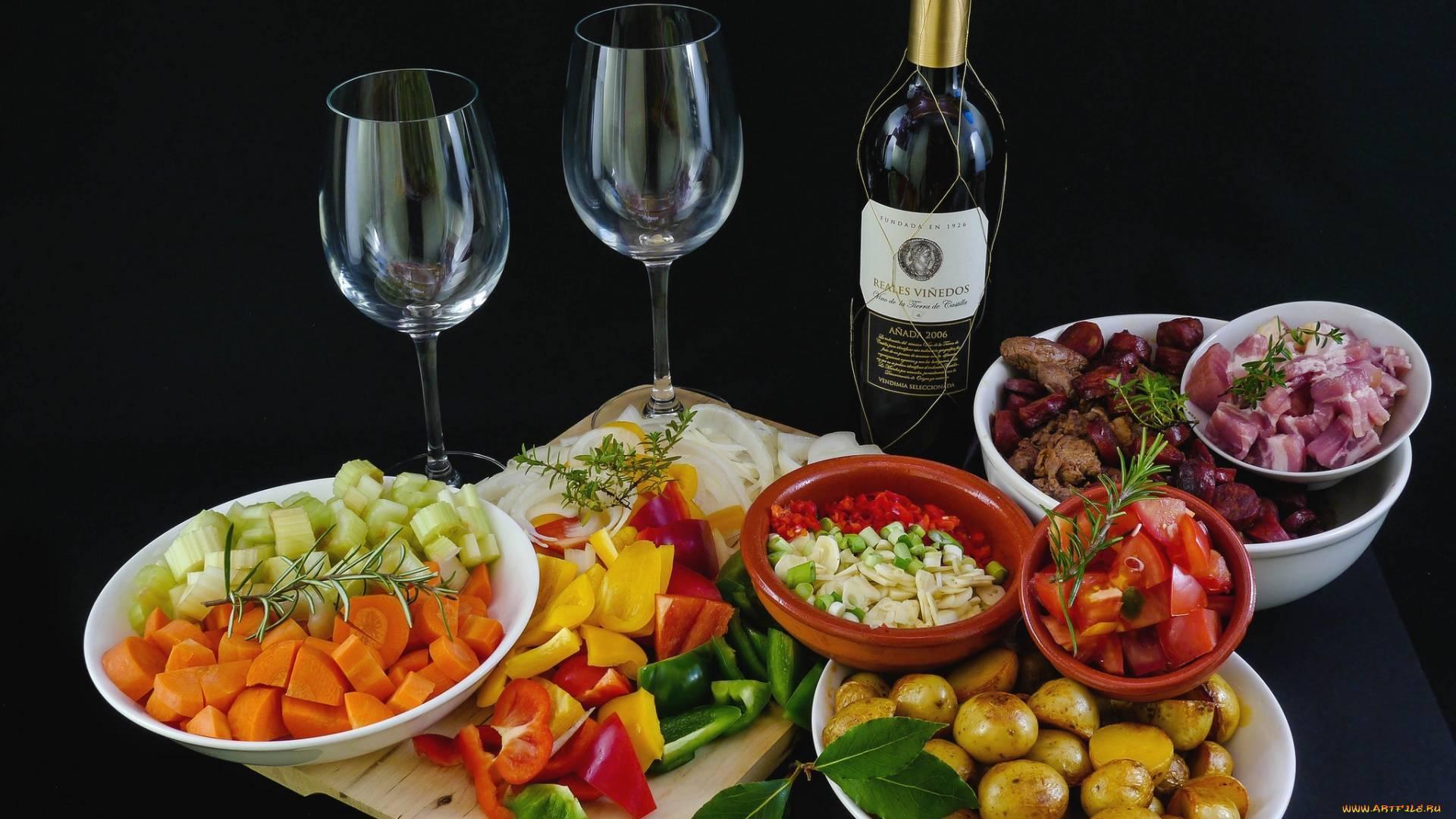 Чем закусывать вино чтобы не поправиться