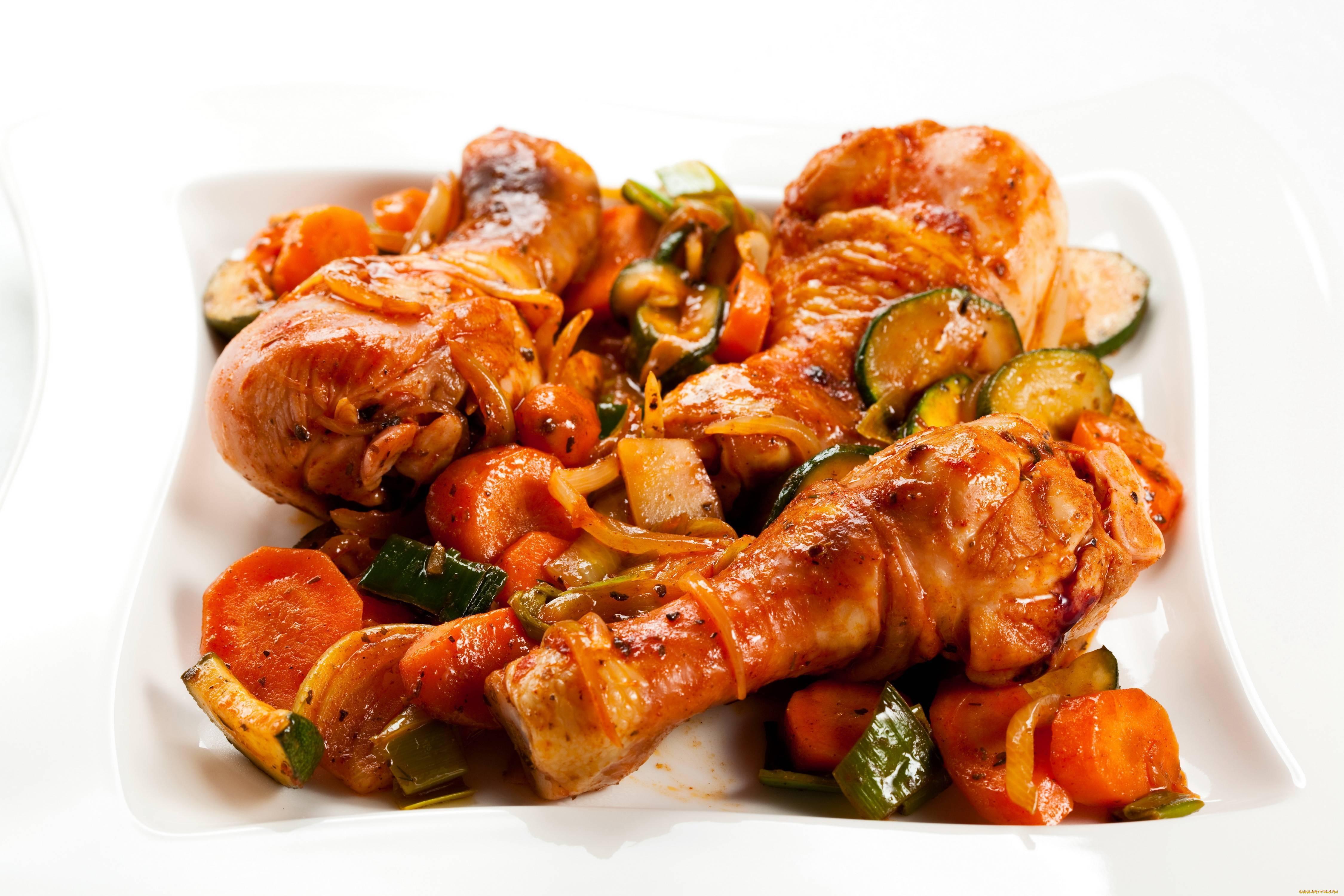 Горячие блюда из курицы - рецепты