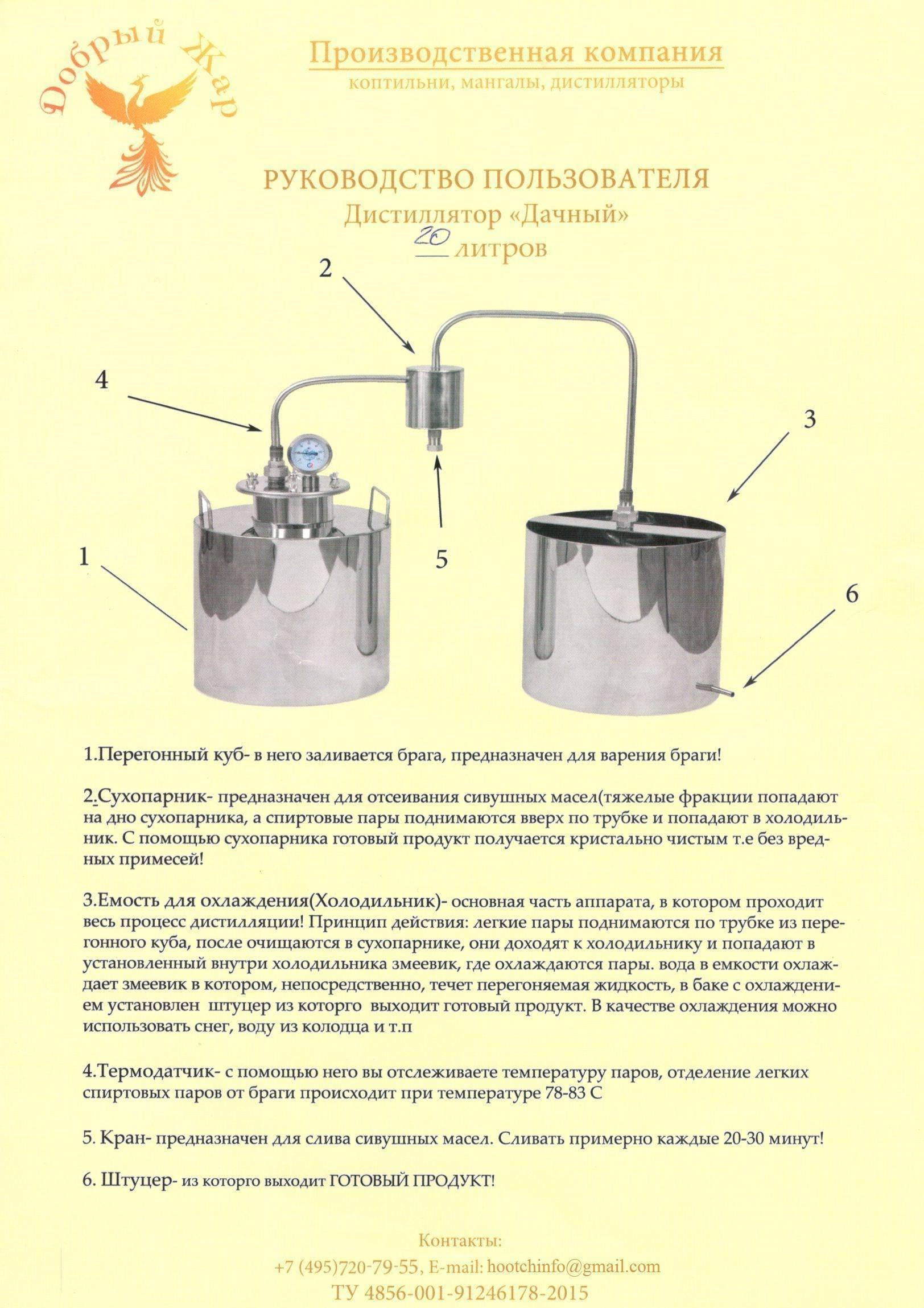 Устройство самогонного аппарата: принцип работы, схема, конструкция, из чего состоит и как работает