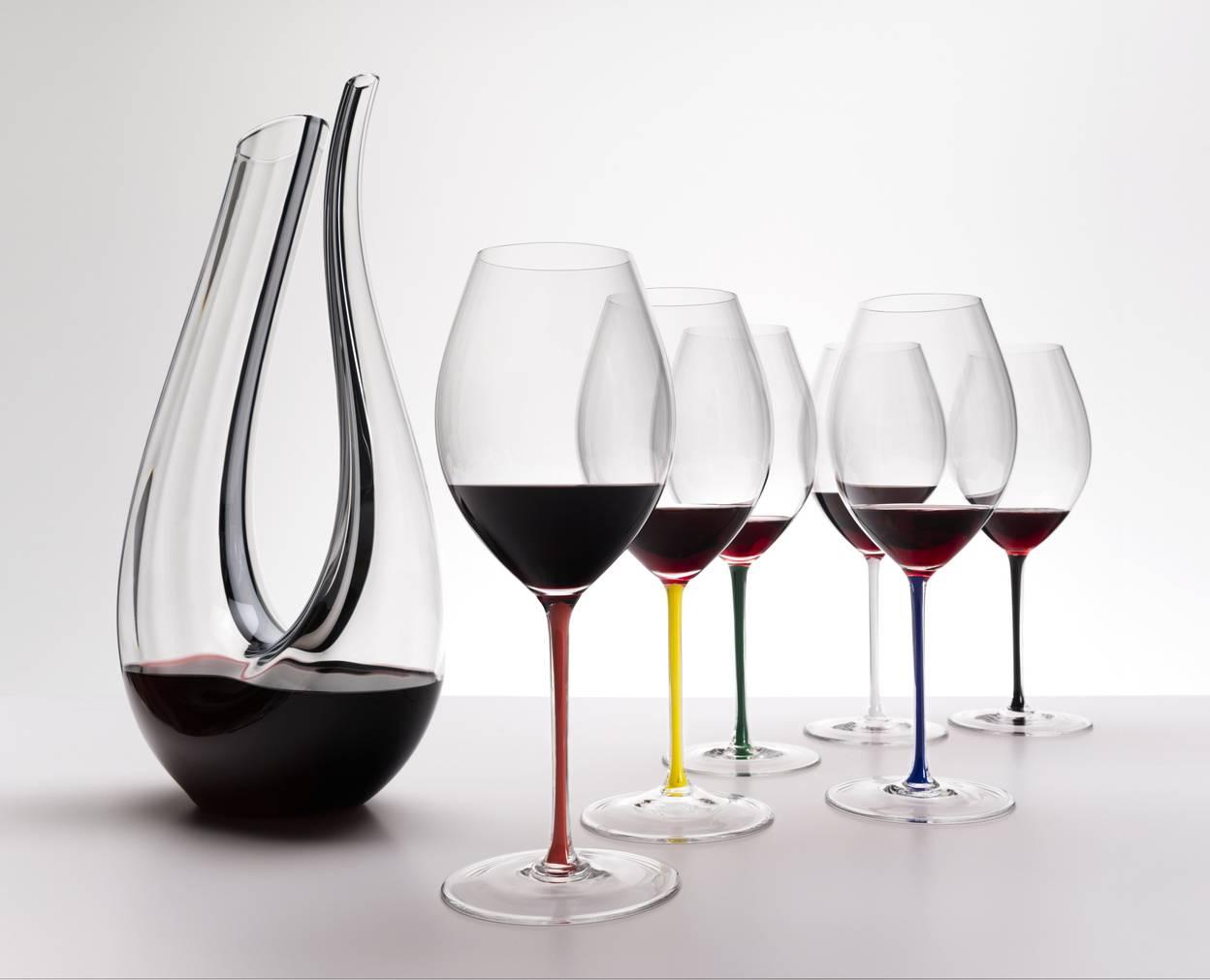 Виды бокалов под красно и белое вино