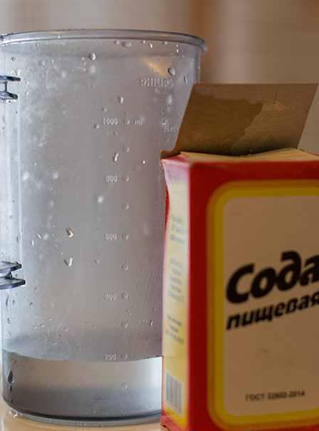 Очистка самогона содой