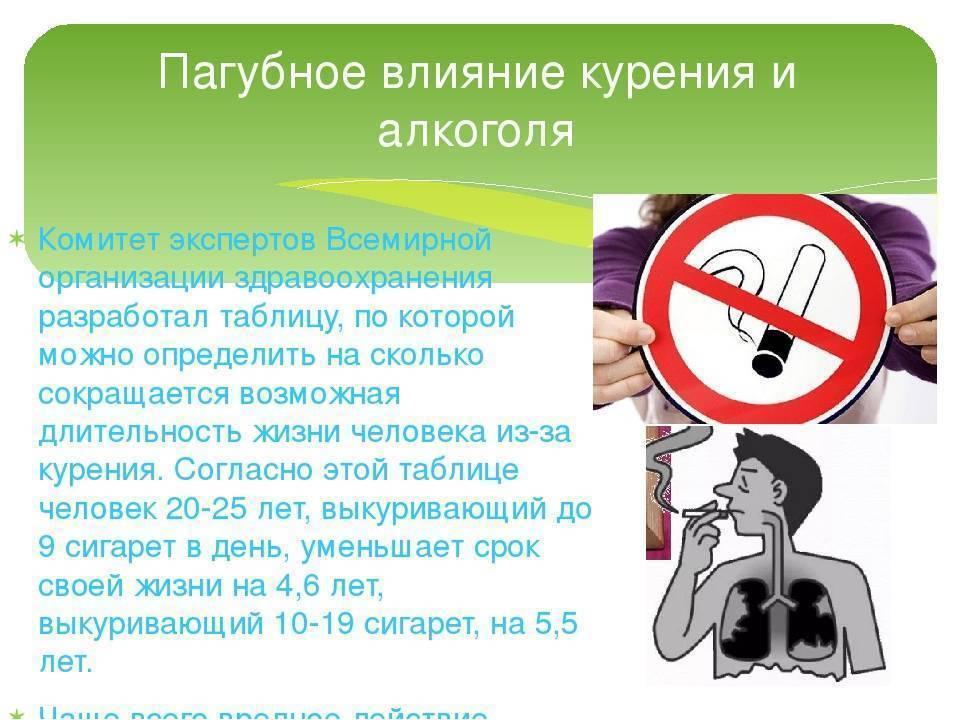 Каково негативное влияние курения и алкоголя на человека. курения и алкоголь, и их вред для здоровья человека