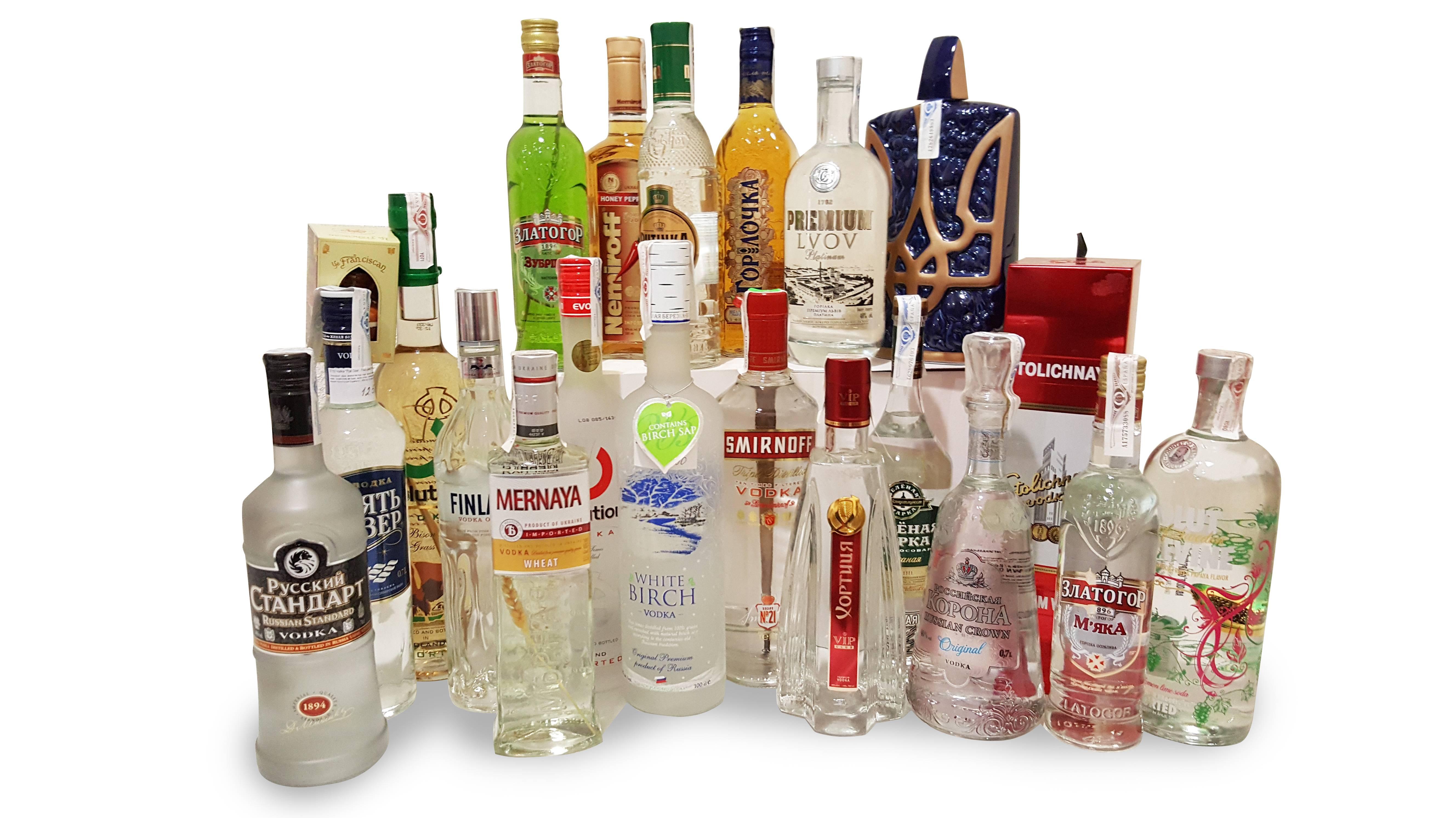 Самые популярные алкогольные напитки в мире