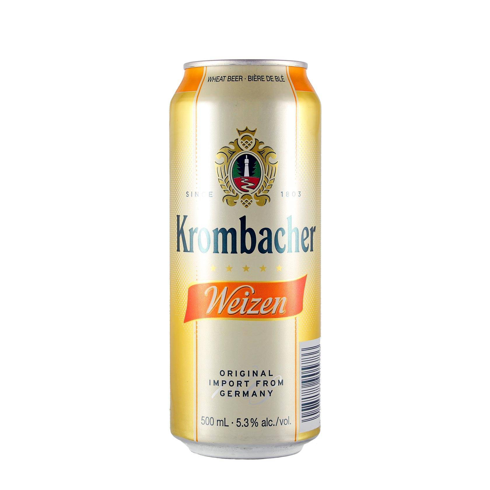 Пиво krombacher, weizen, 0.5 л — кромбахер, вайцен, 500 мл