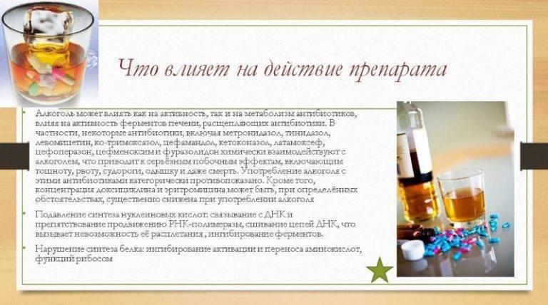 Можно ли пить алкоголь при приеме антибиотиков и почему