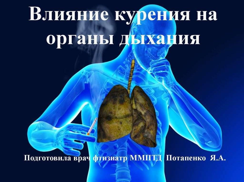Влияние табачного дыма при курении на здоровье человека