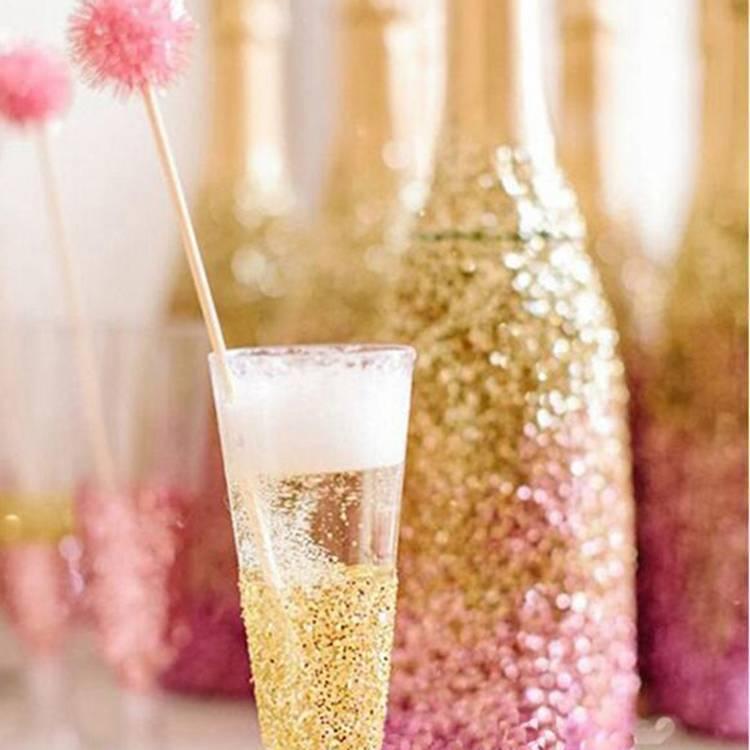 Обзор шампанского с блестками (перламутрового)