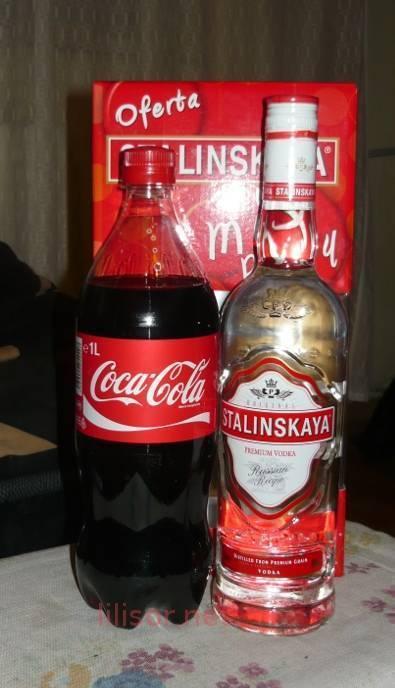 Водка с колой - коктейль из водки с газированными напитками