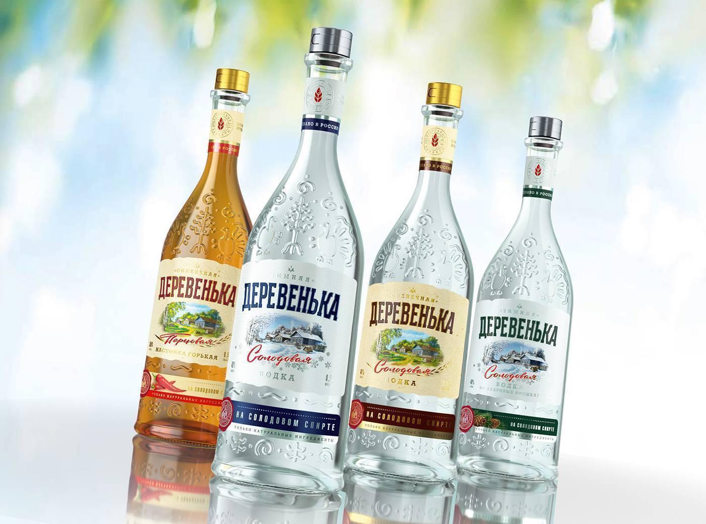 Водка деревенька — вкусовые особенности солодовой водки