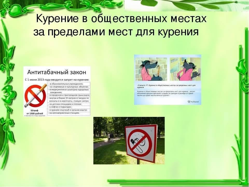 Штраф за курение в общественном месте 2020, - размер, порядок оплаты