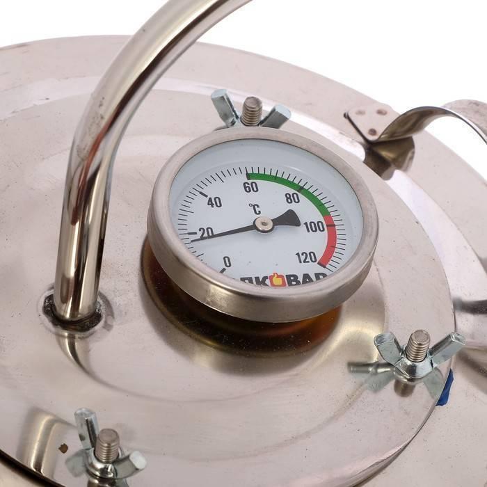 Как поставить термометр в самогонный аппарат