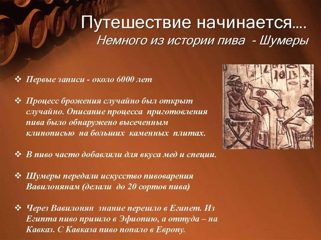 Кто придумал пиво, история пивоварения на руси