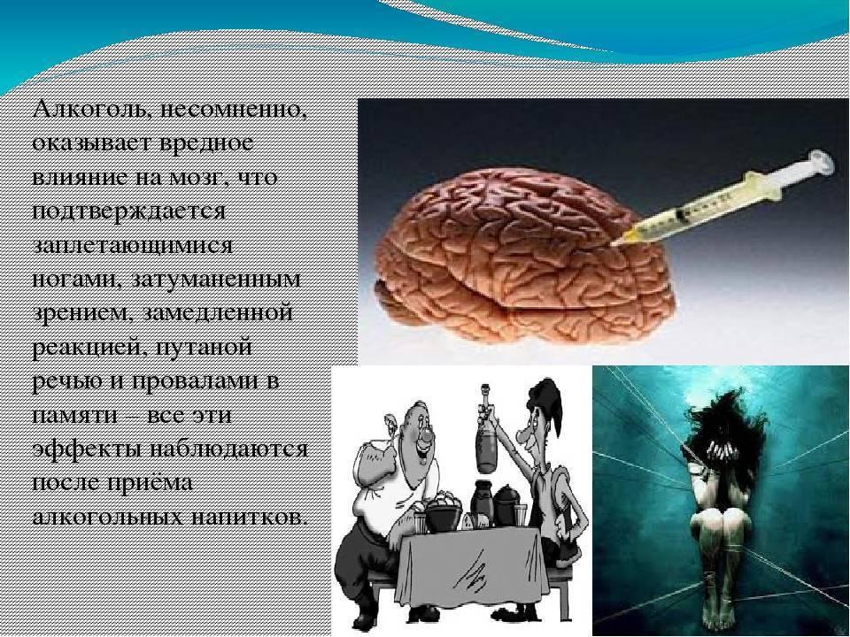 Как алкоголь действует на мозг и его последствия