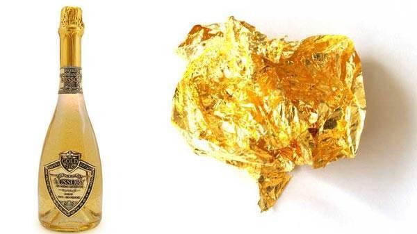 Шампанское российское золото: история и описание марки