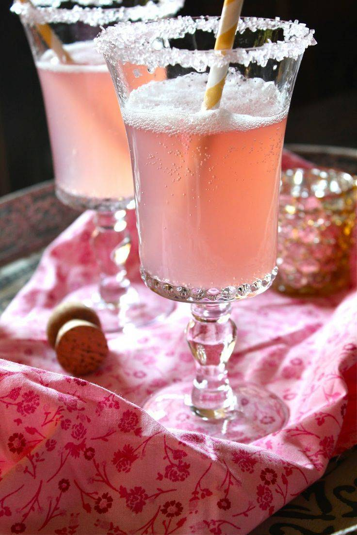 Коктейли с шампанским на праздничный стол