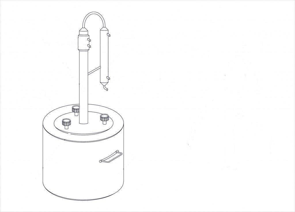 Как сделать медный самогонный аппарат