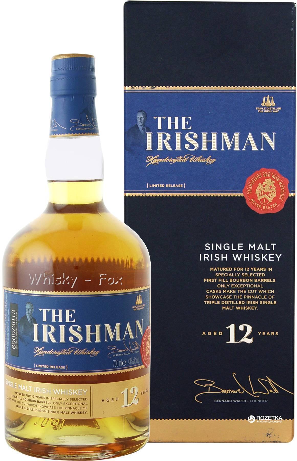 Виски irishman: обзор, виды, цена