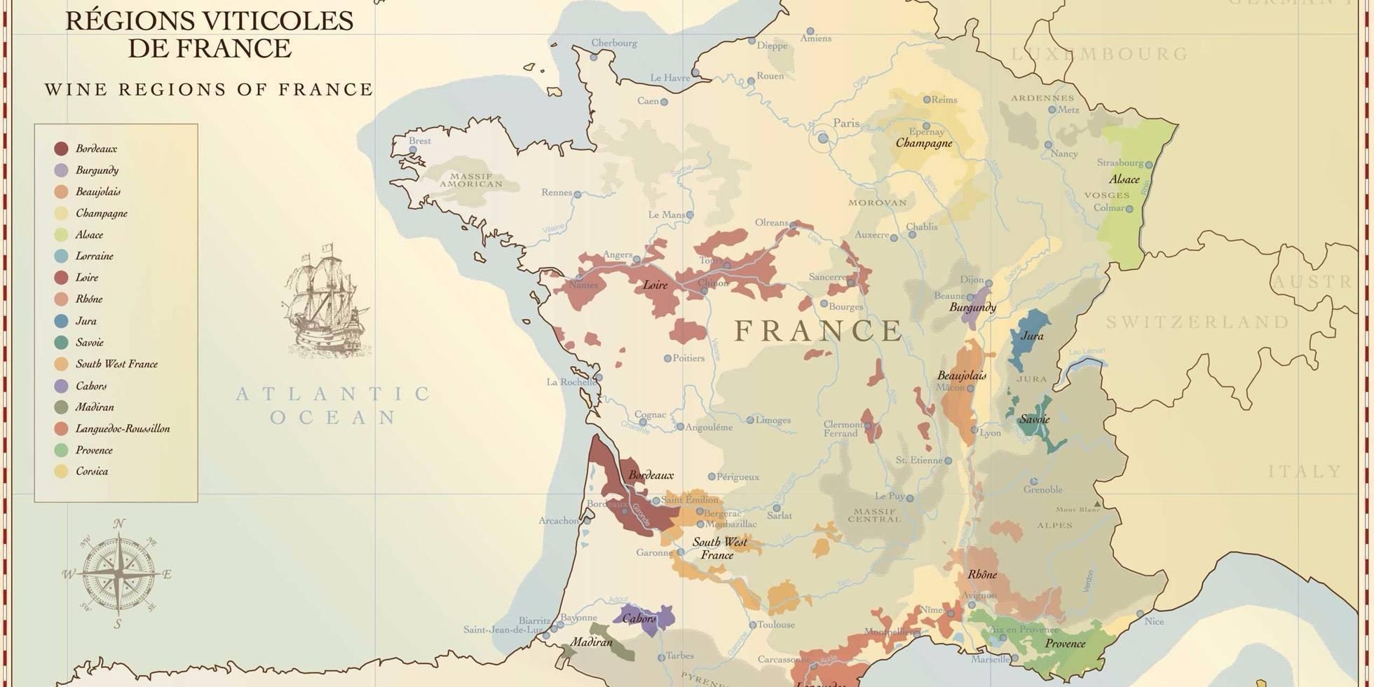 Французское вино: классификация, виды, винодельческие регионы и сорта винограда