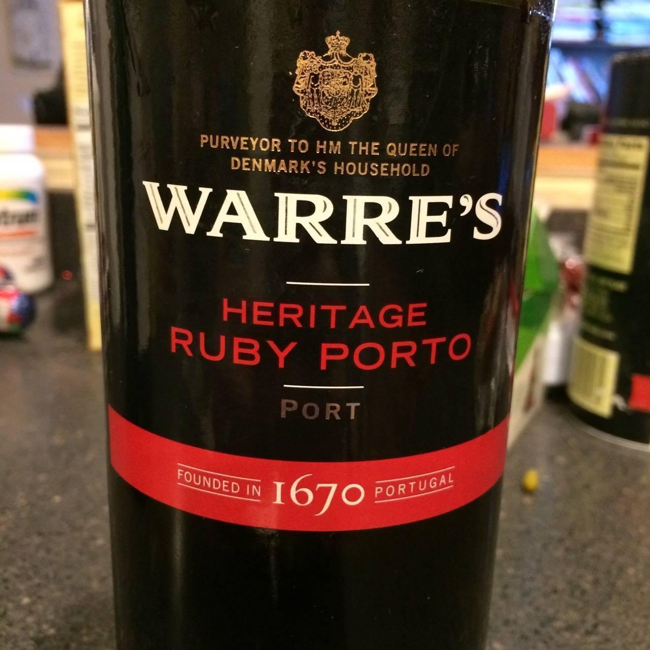 Обзор портвейна warres heritage ruby port