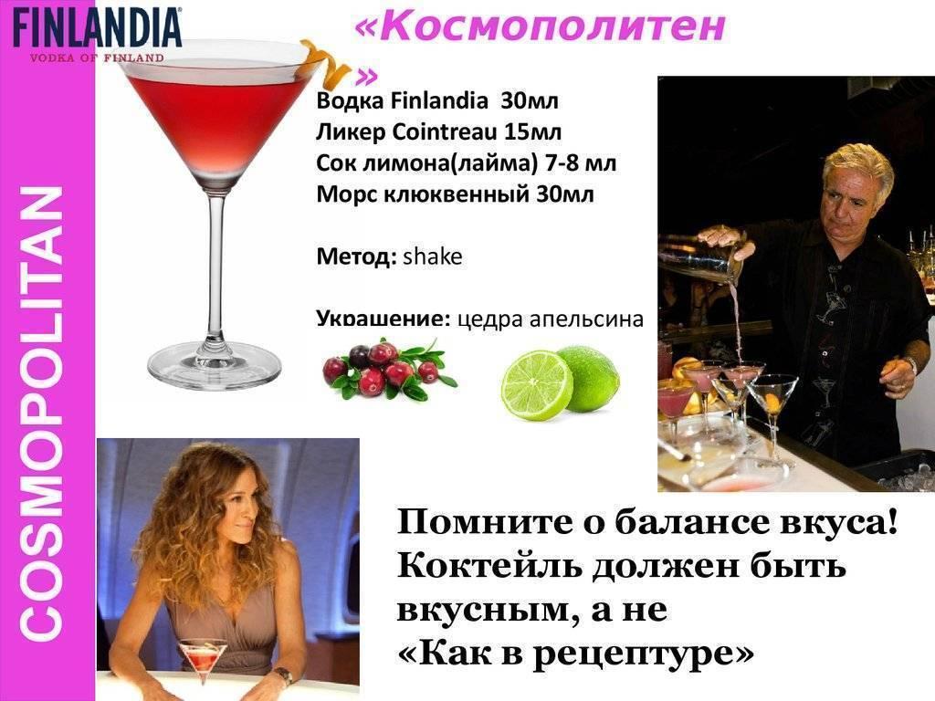 Коктейль космополитен: рецепт классический, состав | koktejli.ru